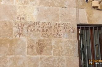 Inscripcion sobre Antonio de Nebrija