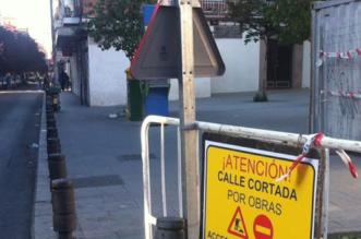 Calles cortadas por obras en Salamanca