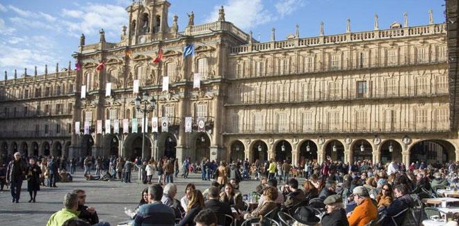 Gente Plaza Mayor de Salamanca