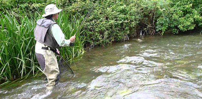 Pescador en río de Salamanca