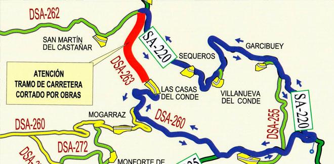 Corte de carreteras Casas del Conde