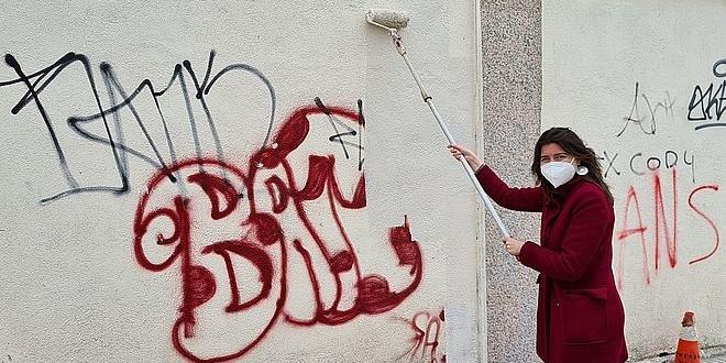 Limpieza limpieza pintadas vandálicas y grafitis