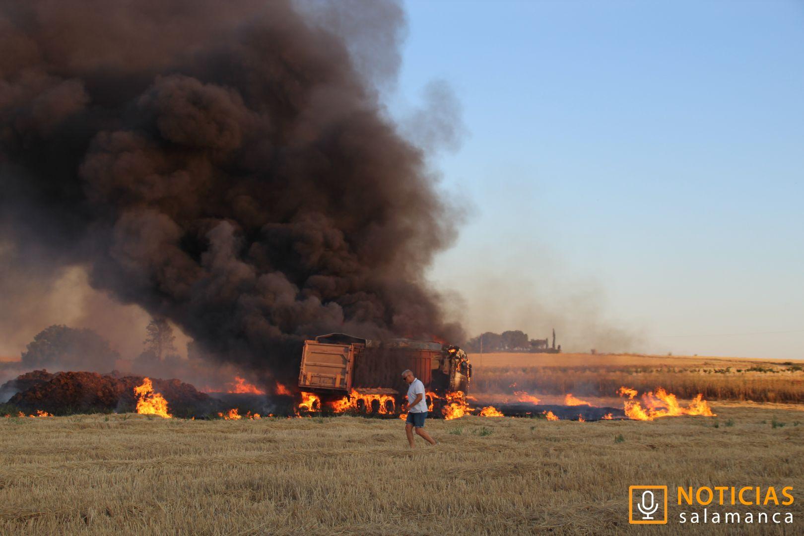 Calvarrasa de Abajo - incendio de camión